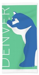 Denver Blue Bear/aqua Bath Towel
