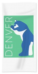 Denver Blue Bear/aqua Hand Towel