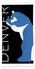 Denver Blue Bear/black Bath Towel