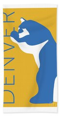 Denver Blue Bear/gold Bath Towel