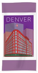 Denver Brown Palace/purple Hand Towel