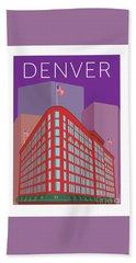 Denver Brown Palace/purple Bath Towel