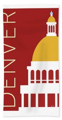 Denver Capitol/maroon Bath Towel