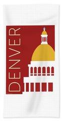 Denver Capitol/maroon Bath Towel