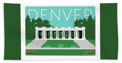 Denver Cheesman Park/lt Blue Bath Towel