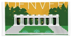 Denver Cheesman Park/gold Hand Towel