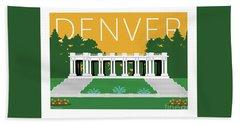 Denver Cheesman Park/gold Hand Towel