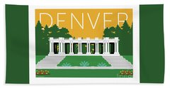 Denver Cheesman Park/gold Bath Towel