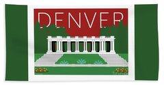 Denver Cheesman Park/maroon Bath Towel