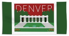 Denver Cheesman Park/maroon Hand Towel
