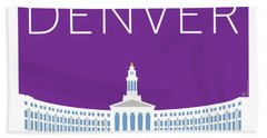 Denver City And County Bldg/purple Bath Towel