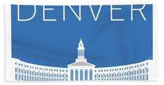 Denver City And County Bldg/blue Bath Towel