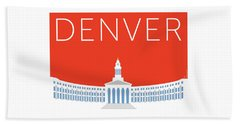 Denver City And County Bldg/orange Hand Towel