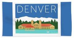 Denver City Park/blue Bath Towel