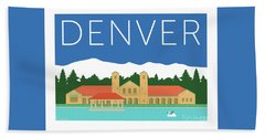 Denver City Park/blue Hand Towel