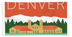 Denver City Park/coral Bath Towel