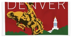 Denver Cowboy/maroon Bath Towel