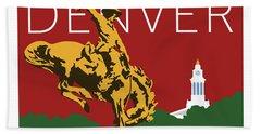 Denver Cowboy/maroon Hand Towel