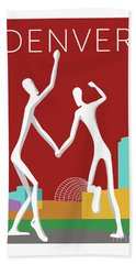 Denver Dancers/maroon Bath Towel