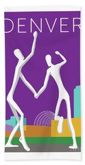 Denver Dancers/purple Hand Towel
