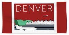 Denver Dia/maroon Bath Towel
