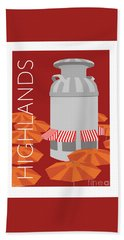 Denver Highlands/maroon Hand Towel