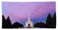 Denver Lds Temple At Sunrise Hand Towel