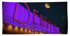 Bath Towel featuring the photograph Denver Pavilion At Night by Kristal Kraft