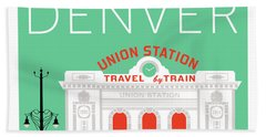 Denver Union Station/aqua Hand Towel