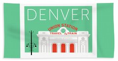 Denver Union Station/aqua Bath Towel