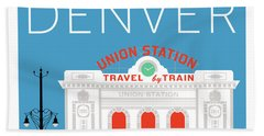 Denver Union Station/blue Hand Towel
