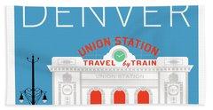 Denver Union Station/blue Hand Towel