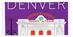 Denver Union Station/purple Bath Towel