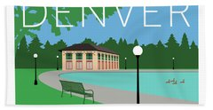 Denver Washington Park/blue Bath Towel