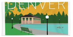 Denver Washington Park/gold Bath Towel