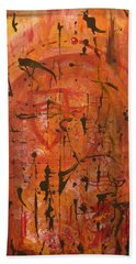 Departing Abstract Hand Towel