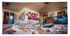 Derelict Campsite Building. Hand Towel
