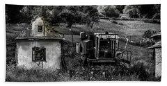 Derelict Farm, Transylvania Bath Towel