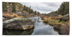 Deschutes River At Eagle Crest Bath Towel