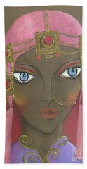 Desert Diva -- Whimsical Arabic Woman Hand Towel