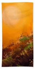 Hand Towel featuring the painting Hot Desert  Evening  by Dan Whittemore