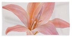 Bath Towel featuring the photograph Desert Flower by Leda Robertson