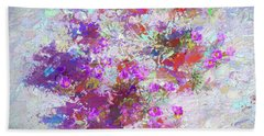 Desert Flowers Abstract 3 Bath Towel