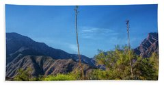 Hand Towel featuring the photograph Desert Flowers In The Anza-borrego Desert State Park by Randall Nyhof