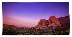 Desert Grape Rock Bath Towel