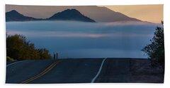 Desert Inversion Highway Bath Towel