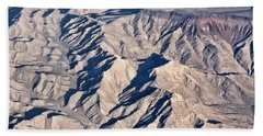 Hand Towel featuring the photograph Desert Mountain Road by Linda Phelps