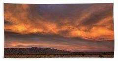 Desert Sky Burning Hand Towel