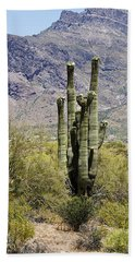 Hand Towel featuring the photograph Desert Strength by Phyllis Denton