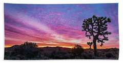 Desert Sunrise At Joshua Tree Hand Towel